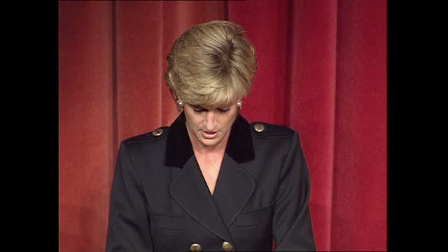 princess of wales speech on homelessness; england: london: savoy hotel: int diana, princess of wales speech sot . - i have listened to many young... - majestic stock videos & royalty-free footage
