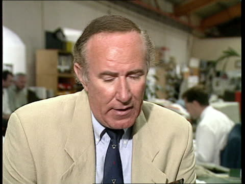stockvideo's en b-roll-footage met suday times story cms andrew neil intvwd sof the book recounts how on one occasion the princess of wales threw herself downstairs after an argument... - andrew neil