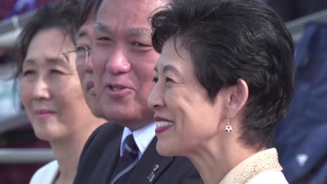 princess takamado makes a surprise visit to meet japan's football team at a training session in kazan making her the first member of her country's... - kazan russia stock videos and b-roll footage