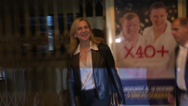 Princesses Elena and her daughter Irene Urdangarin attend 'The Physician' the musical based on Noah Gordon novel on October 24