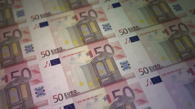 print 50 euro bill money - euro symbol stock videos and b-roll footage