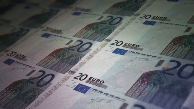 print  bill  paper  euro - banknote stock videos & royalty-free footage