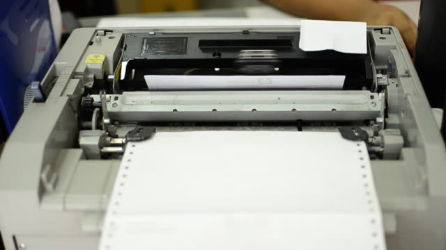 printer at office - printer occupation stock videos and b-roll footage