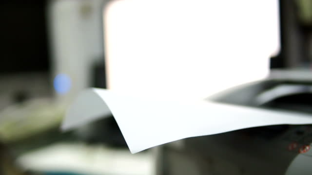 printer at work - photocopier stock videos and b-roll footage