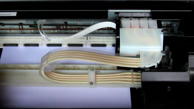 Printer printing a paper
