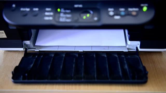 printer printing paper - writing instrument stock videos & royalty-free footage