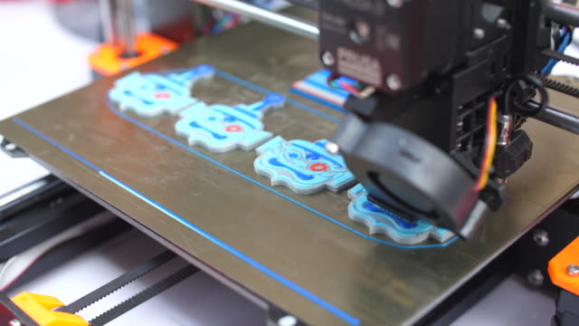 3d printer,close-up shot. - development stock videos & royalty-free footage