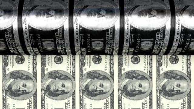 printing $100 bills - money press stock videos and b-roll footage