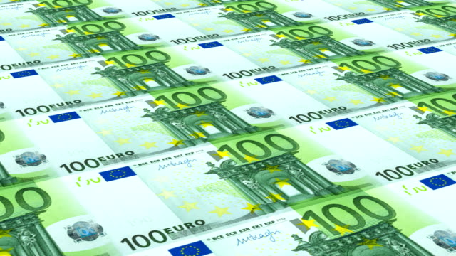 printing 100 euro money paper cash banknotes on print machine. - banknote stock videos & royalty-free footage
