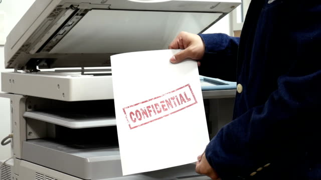 printing a confidential document on printer machine - cartridge stock videos & royalty-free footage