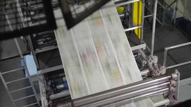 printing machine 10 - pressa da stampa video stock e b–roll