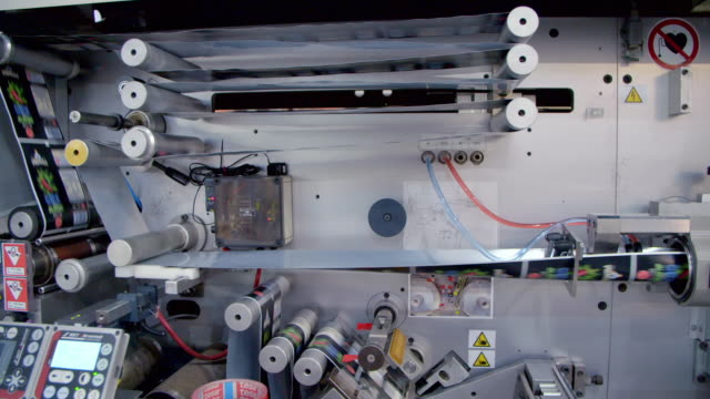 printing machine producing tubes - complexity stock videos & royalty-free footage
