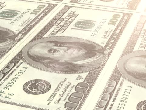 drucken geld - geldpresse stock-videos und b-roll-filmmaterial