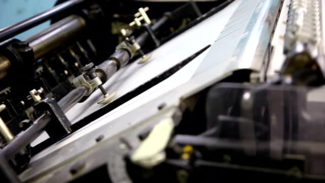 stockvideo's en b-roll-footage met printing press... - litho