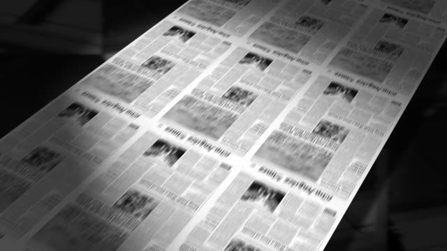 b/w, cgi, printing press - schlagzeile stock-videos und b-roll-filmmaterial