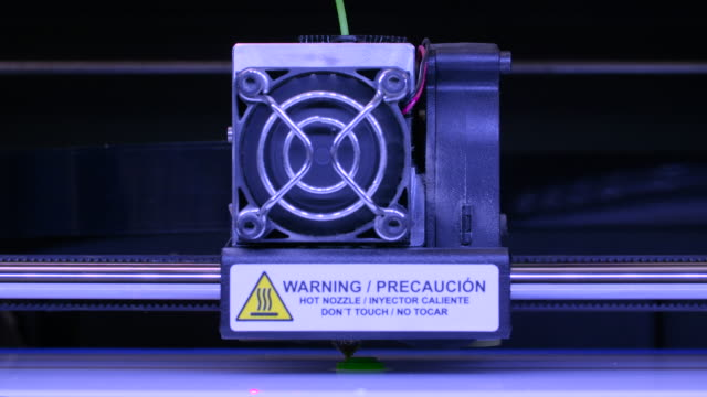 3d printing small fluorescent green object - design element stock videos & royalty-free footage