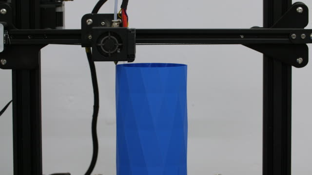 3d printing tall blue vase - 3d printing stock videos & royalty-free footage