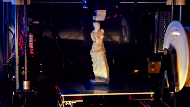 vidéos et rushes de impression 3d time lapse vénus sculpture grecque - sculpture production artistique