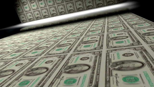 printing us dollar banknotes - printing out stock videos and b-roll footage