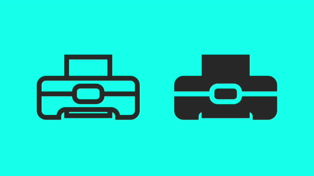 printing - vector animate - printout stock videos & royalty-free footage