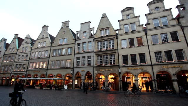 Prinzipalmarkt in Münster, Germany - Time Lapse