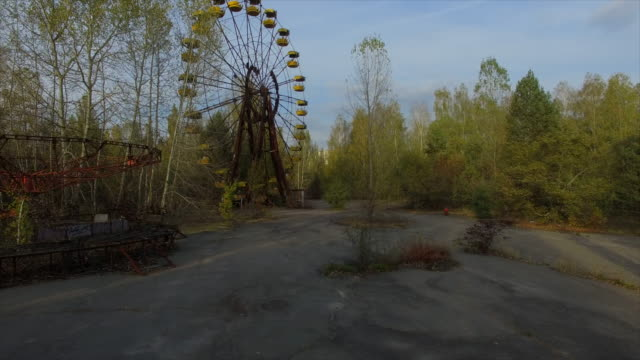 pripyat abandoned city near chernobyl nuclear power plant - abandoned stock videos & royalty-free footage