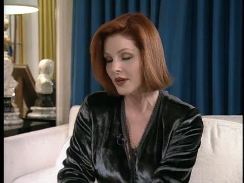 priscilla presley discusses her daughter lisa marie's impromptu marriage to singer michael jackson in 1994. - lisa marie presley stock videos & royalty-free footage