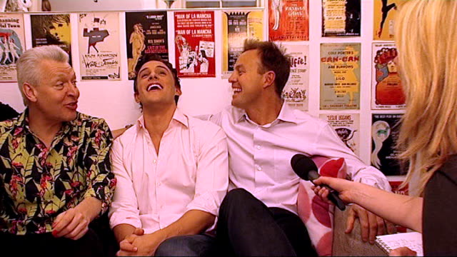 'priscilla queen of the desert' west end debut jason donovan interview sot i've taken viagra tonight tony sheldon clive carter and oliver thornton... - anti impotence tablet stock videos & royalty-free footage