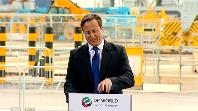 government insists british security services operate within the law; surrey: london gateway: various shots of david cameron mp and others visiting... - douglas alexander stock videos & royalty-free footage