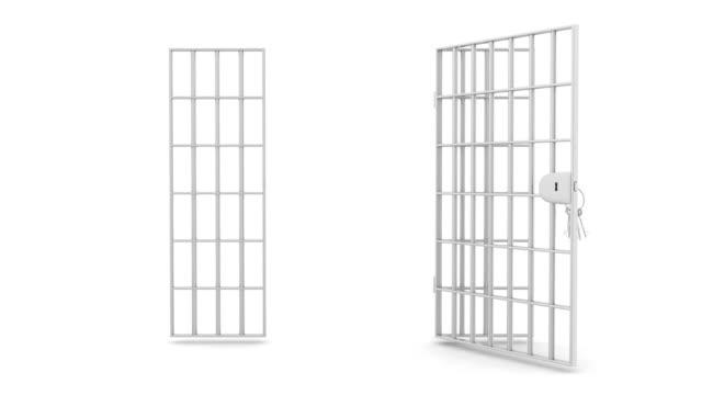 vídeos de stock, filmes e b-roll de grade de prisão - grade de prisão