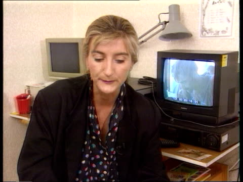 prison camps: omarska/ trnopolje; naf: ? cms penny marshall sof - speaks about what she saw while making report at omarska tx 6.8.92/naf - bosnia and hercegovina stock videos & royalty-free footage