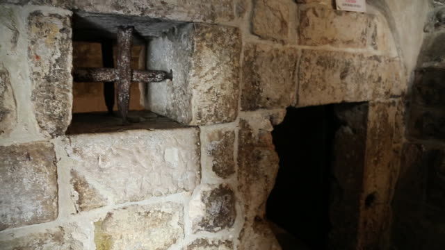 prison cells in the rector's palace, dubrovnik - the past stock videos & royalty-free footage