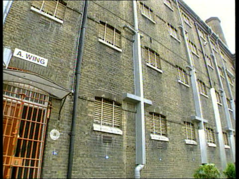 london brixton prison brixton prison tilt door of refurbished cell opened interior of cell - prison reform stock videos & royalty-free footage
