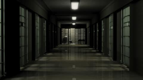 vídeos y material grabado en eventos de stock de ds, prison hallway and empty cell, brooklyn, new york, new york city, usa - plano de plataforma rodante