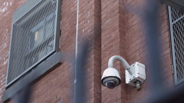 prison surveillance camera, found at jails and corrections facilities, mass incarceration in u.s. - prisoner stock videos & royalty-free footage