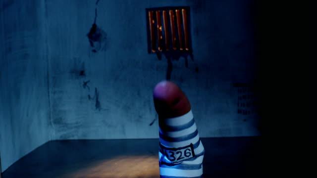 Prisoner finger, concept