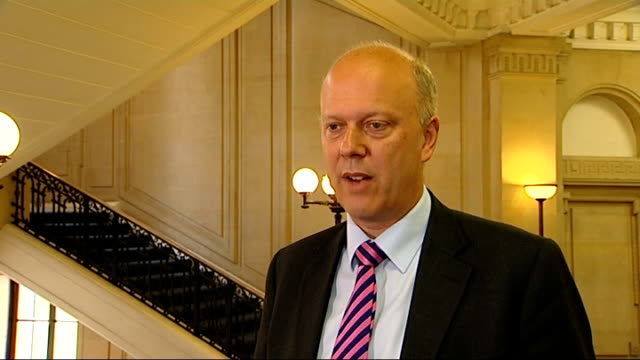 prisoner rehabilitation reforms: chris grayling interview; england: london: westminster: int chris grayling mp interview sot/ chris grayling walking... - recovery stock videos & royalty-free footage