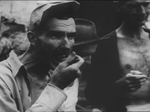 prisoners of war after liberation of japanese concentration camp - world war ii stock videos & royalty-free footage