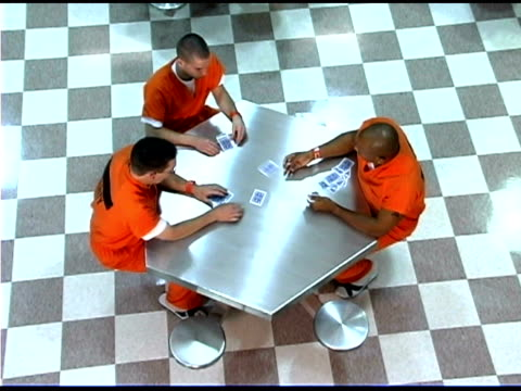 Prisoners playing cards