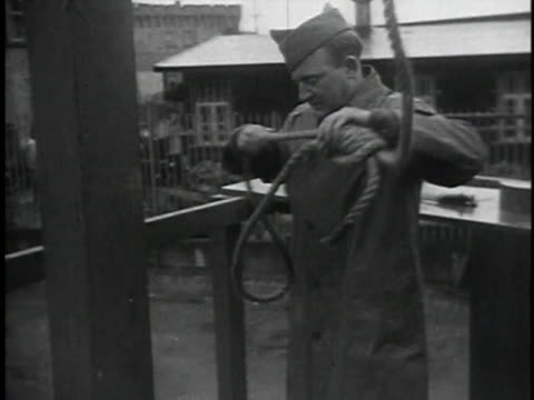 prisoners walking / man preparing noose / soldiers preparing prisoner - execution stock videos & royalty-free footage