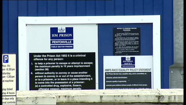 Prisons accused of transfering difficult inmates ahead of inspections Signs outside HM Prison Pentonville Exterior of HM Prison Pentonville