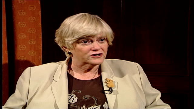 low-risk prisoners may be released early; ann widdecombe mp interview sot - ann widdecombe stock videos & royalty-free footage