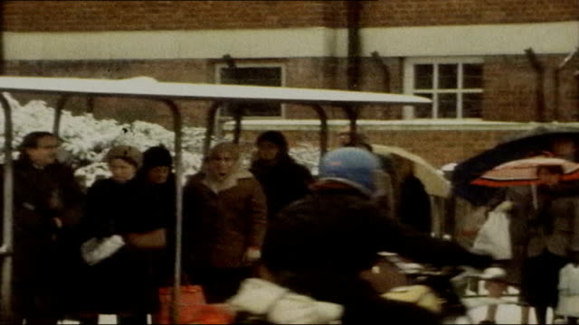 Prison officers on strike over pay dispute 1978 / 1979 ENGLAND London EXT Winter of discontent footage including Empire cinema with large makeshift...
