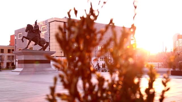 pristina city center - pristina stock videos and b-roll footage