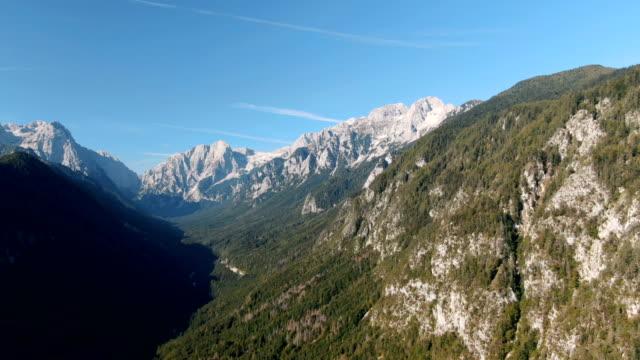 pristine, spectacular rocky mountains / aerial drone view, triglav national park - slovenia stock videos & royalty-free footage