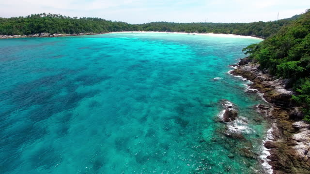 Pristine waters of Ko Racha Island Thailand.