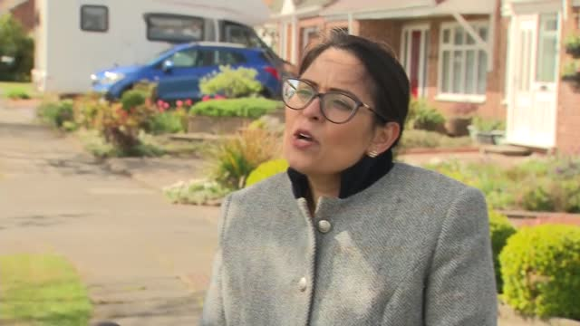 priti patel interview; england: durham: hartlepool: ext priti patel mp interview sot q: on number of people stabbed to death and plans going forward... - home finances stock videos & royalty-free footage