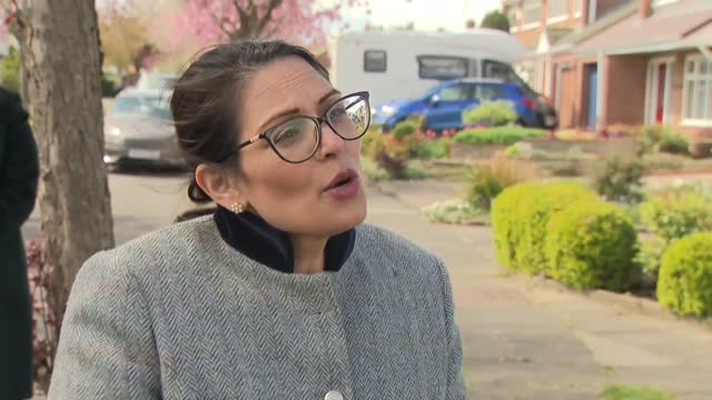 priti patel interview; england: durham: hartlepool: ext priti patel mp interview sot q: on amount of money spent on county lines gangs - national... - coworker stock videos & royalty-free footage