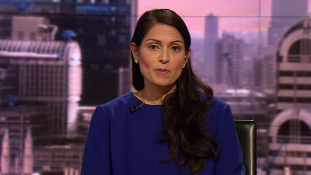 priti patel saying anne sacoolas is ready to cooperate with authorities in the death of harry dunn - home secretary stock videos & royalty-free footage