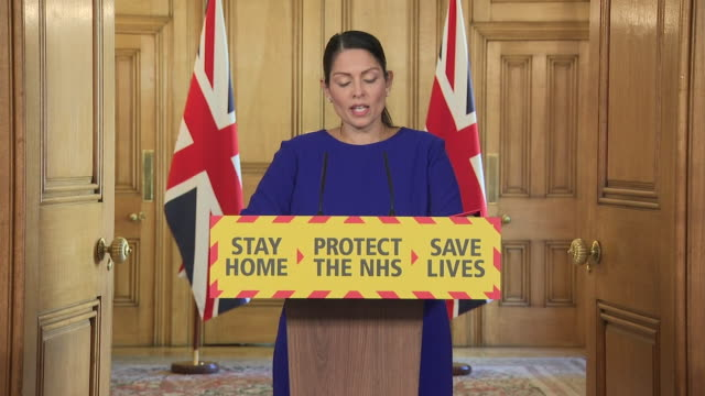 priti patel saying it is imperative that people follow lockdown rules as the uk is not out of danger yet - obedience stock videos & royalty-free footage